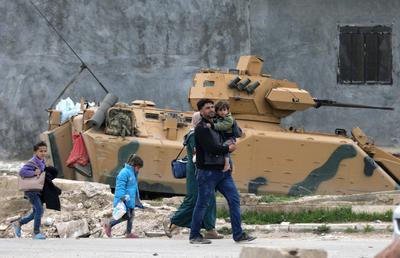 Residents flee Syria's Afrin region