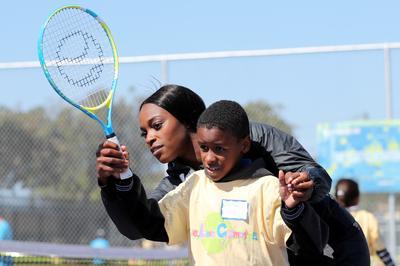 Sloane Stephens serves up tennis to Compton kids
