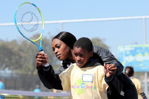 Sloane Stephens serves up tennis to Compton kids