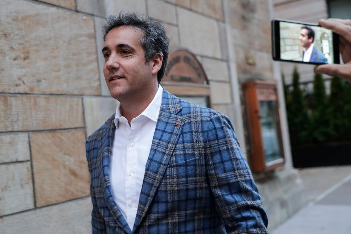 photo image Trump lawyer Cohen expected at court hearing, Stormy Daniels to attend