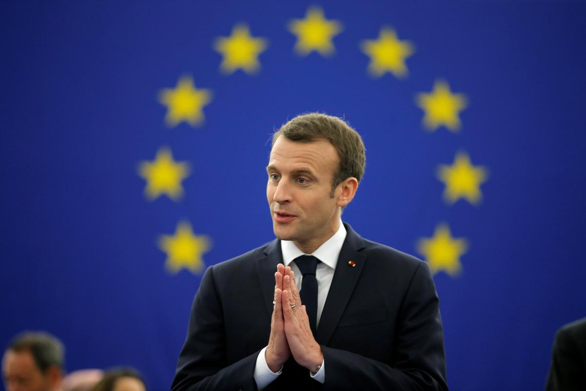 EU is a haven from world's dangers, Macron tells Europeans