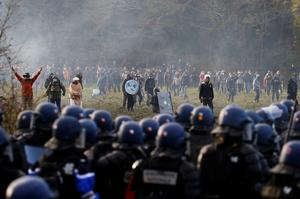 French police clash with eco-activists