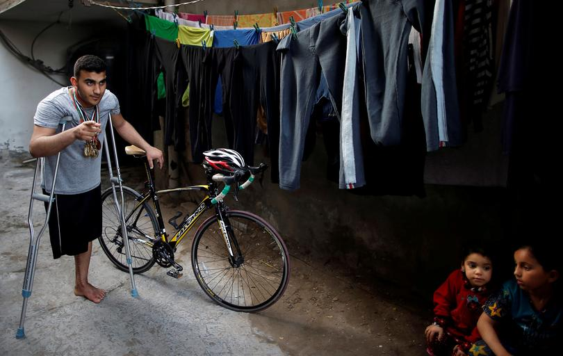 Wounded Gaza cyclist to miss Asian Games after amputation   Pictures   Reuters