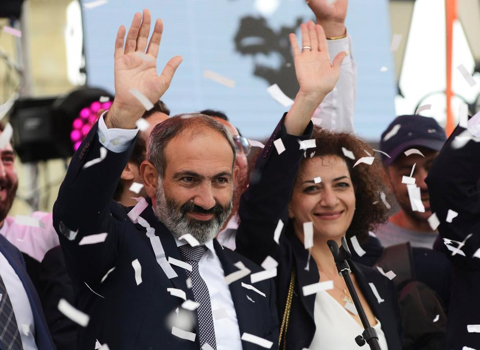 revolution sweeps armenian opposition leader into power reuters