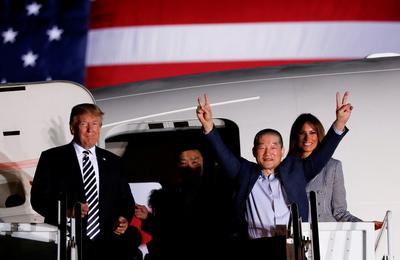 Trump welcomes prisoners released by North Korea