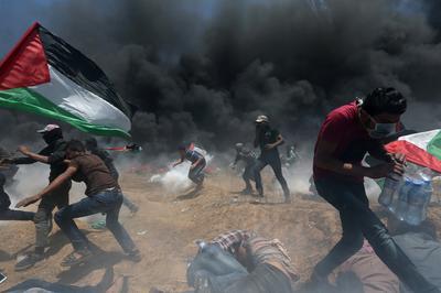 Palestinians protest U.S. embassy move