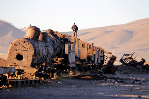 Bolivia's graveyard of trains