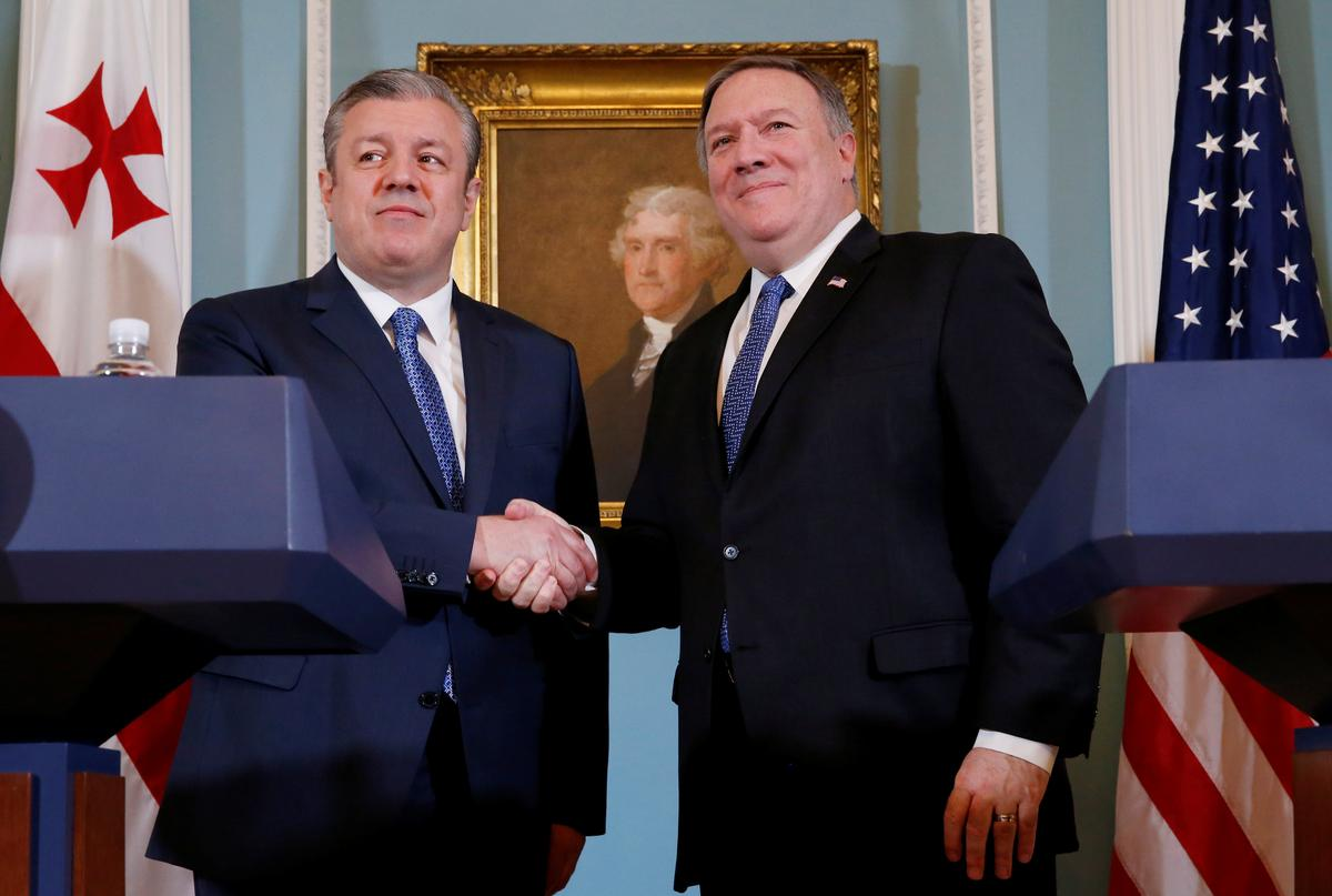 U.S.'s Pompeo pledges support for Georgia, calls for Russia troop…