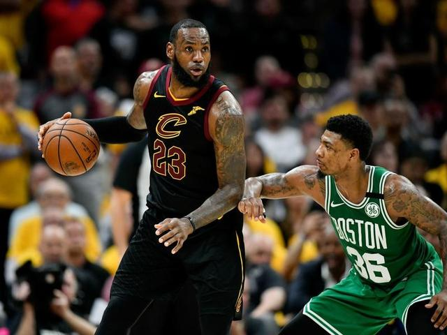 19d6711899aa LeBron James scores 44 as Cavaliers even series with Celtics ...