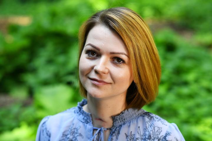 Yulia Skripal, daughter of poisoned Russian spy Sergei Skripal, speaks to...