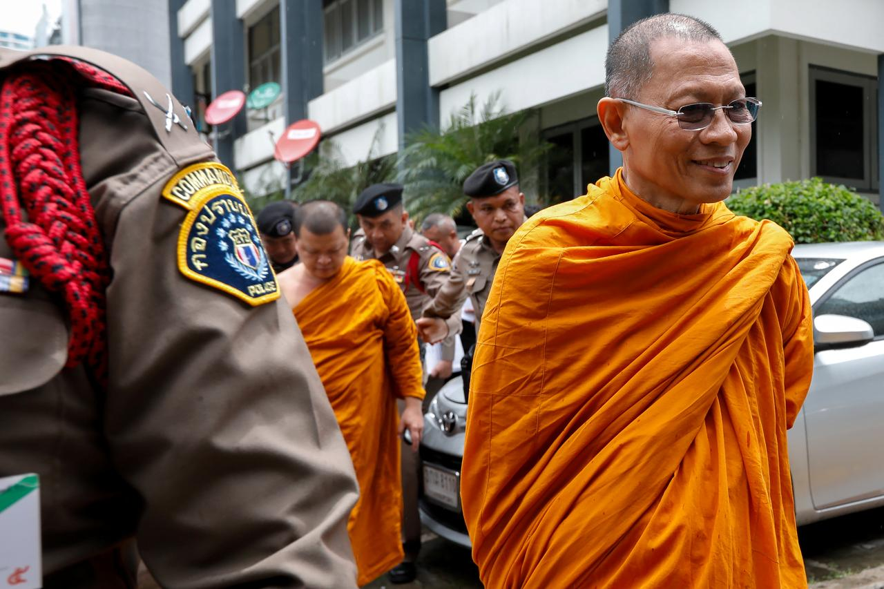Thailand arrests senior monks in temple raids to clean up Buddhism