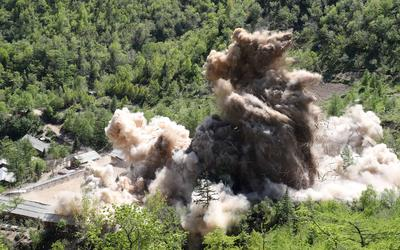 North Korea destroys tunnels at nuclear test site