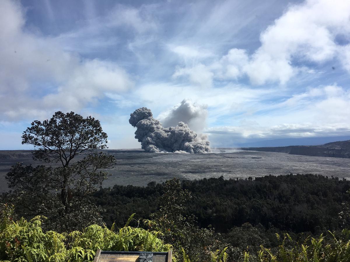String of Hawaii volcano explosions shoot ash to 11,000 feet