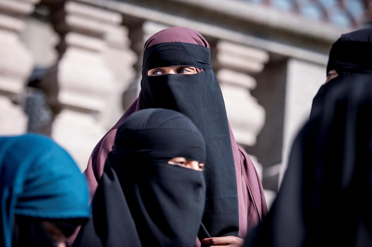 Image result for Denmark Parliament bans wearing of face veils in public