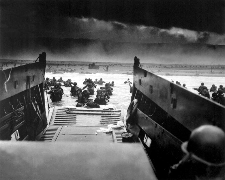 American soldiers landing on the coast of France under heavy machine gun fire.  REUTERS/File