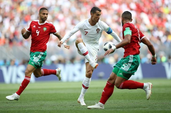 Image result for pic of portugal vs morocco