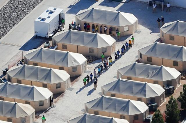 Image result for immigration tent city