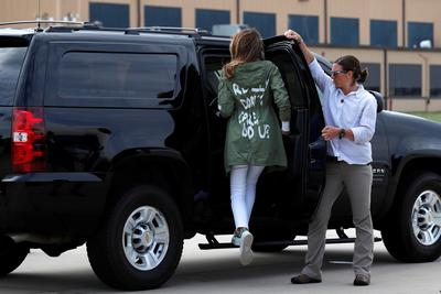 Melania Trump visits border detention center