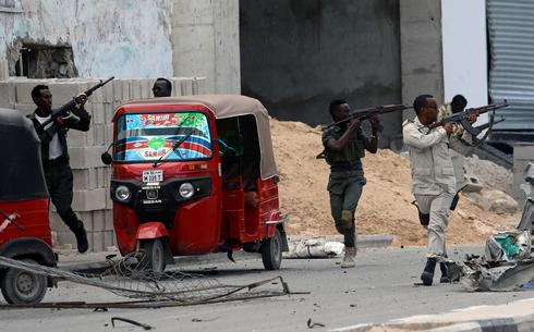 Al Shabaab attack Somalia police HQ