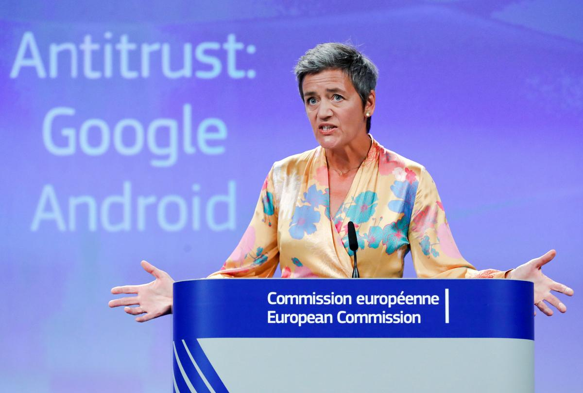 Europe hits Google with record $5 billion antitrust fine, appeal ahead