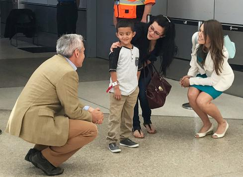Detained parents reunited with children