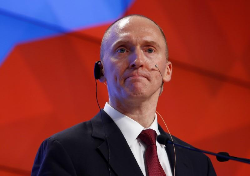 One-time advisor of U.S. president-elect Donald Trump Carter Page addresses the audience during a presentation in Moscow, Russia, December 12, 2016. Sergei Karpukhin - RC1F4BDC7F00