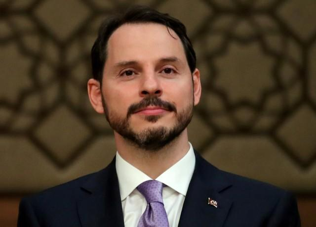 Turkish President Tayyip Erdogan's son-in-law and newly appointed Treasury and Finance Minister Berat Albayrak attends a news conference at the Presidential Palace in Ankara, Turkey July 9, 2018. Umit Bektas