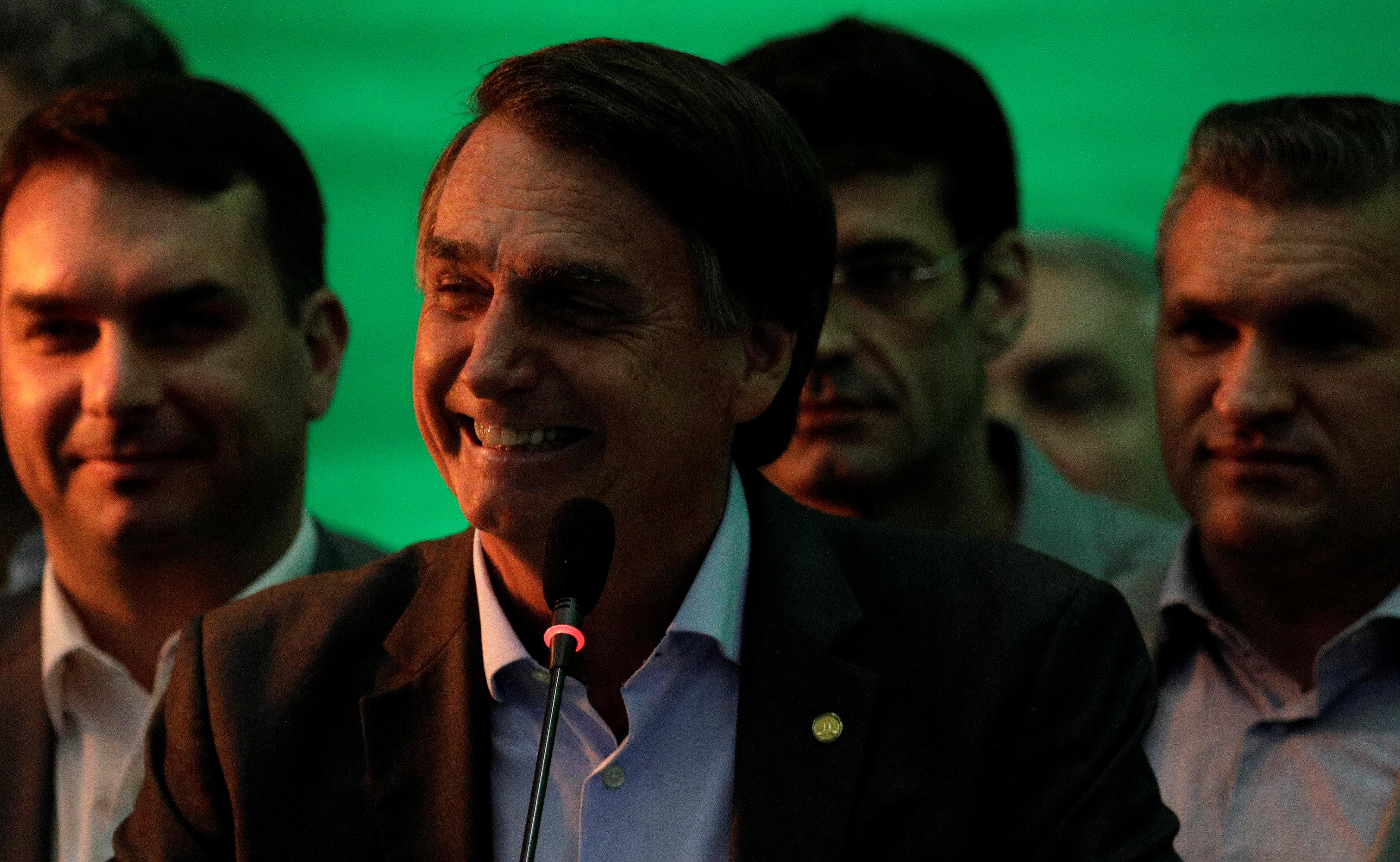 Federal deputy Jair Bolsonaro delivers a speech during the national convention of the Party for Socialism and Liberation (PSL) where he is to be formalised as a candidate for the Presidency of the Republic, in Rio de Janeiro, Brazil July 22, 2018. Ricardo Moraes