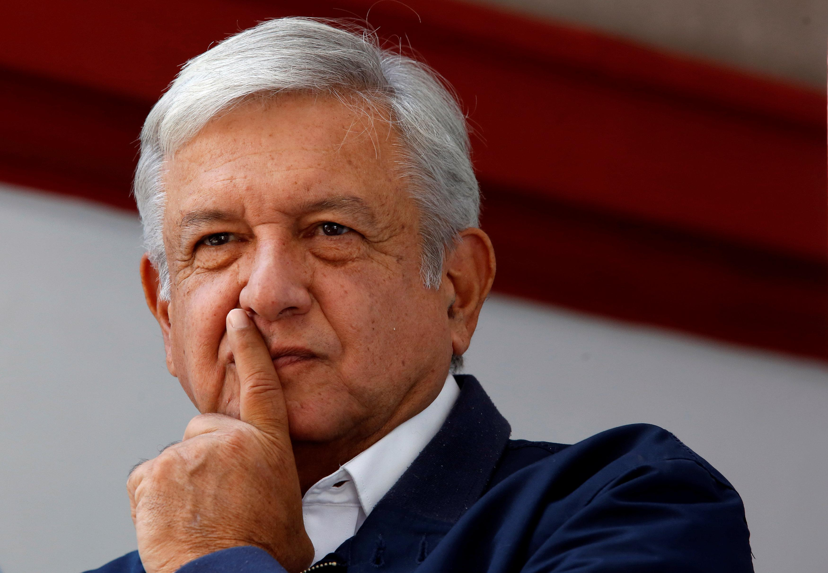 Mexico's president-elect Andres Manuel Lopez Obrador gestures during a news conference in Mexico City, Mexico July 22, 2018. Ginnette Riquelme