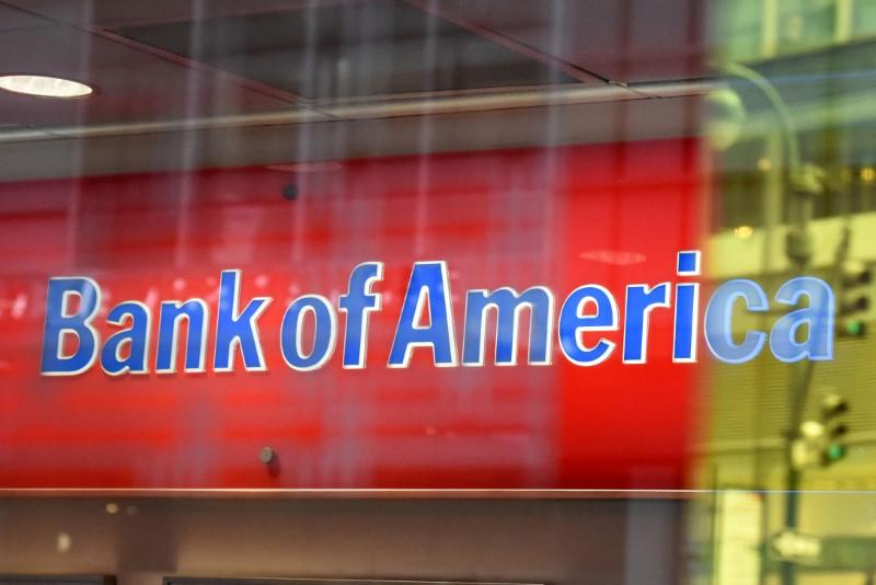 A Bank of America logo is seen in New York City, U.S. January 10, 2017. Stephanie Keith