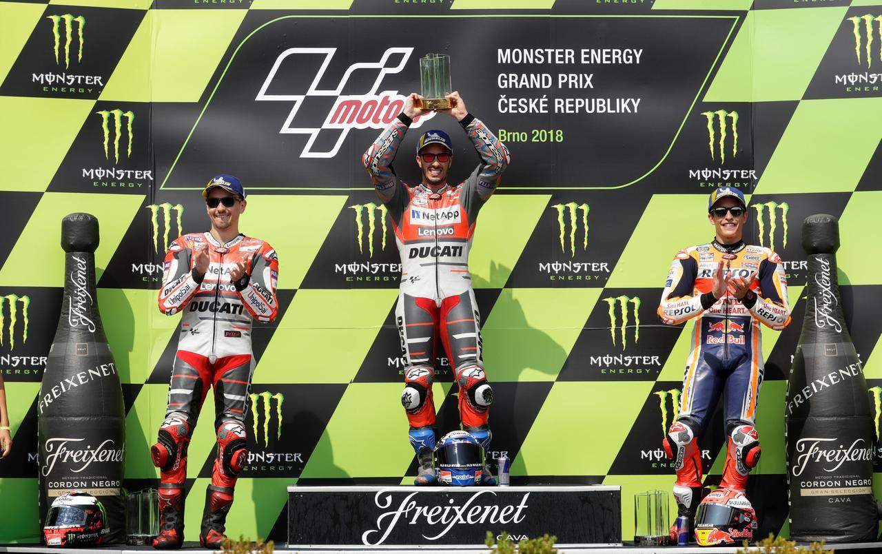 675168601f7e Motorcycling  Ducati s Dovizioso wins three-way Czech GP thriller ...