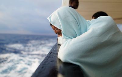 Aboard a migrant rescue ship