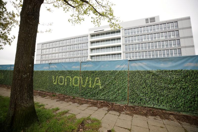 The new headquarters of German real estate company Vonovia SE, a member of the German DAX-30 stock market index, is pictured in Bochum, Germany, April 24, 2018, before Vonovia's annual shareholders meeting in Bochum, May 9, 2018.  Wolfgang Rattay - RC1196FFC470