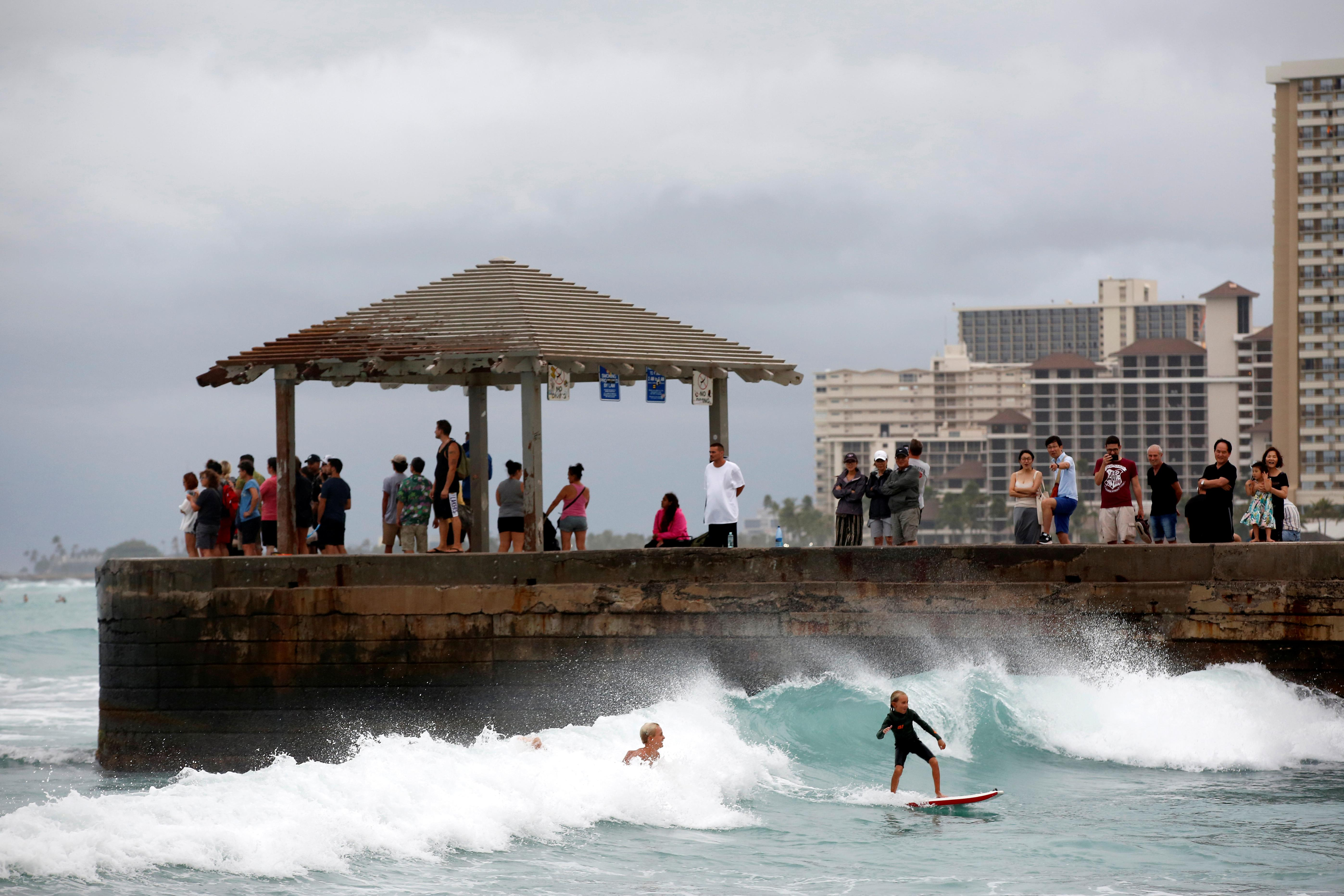 Hurricane treats Hawaii surfers to a taste of the perfect wave