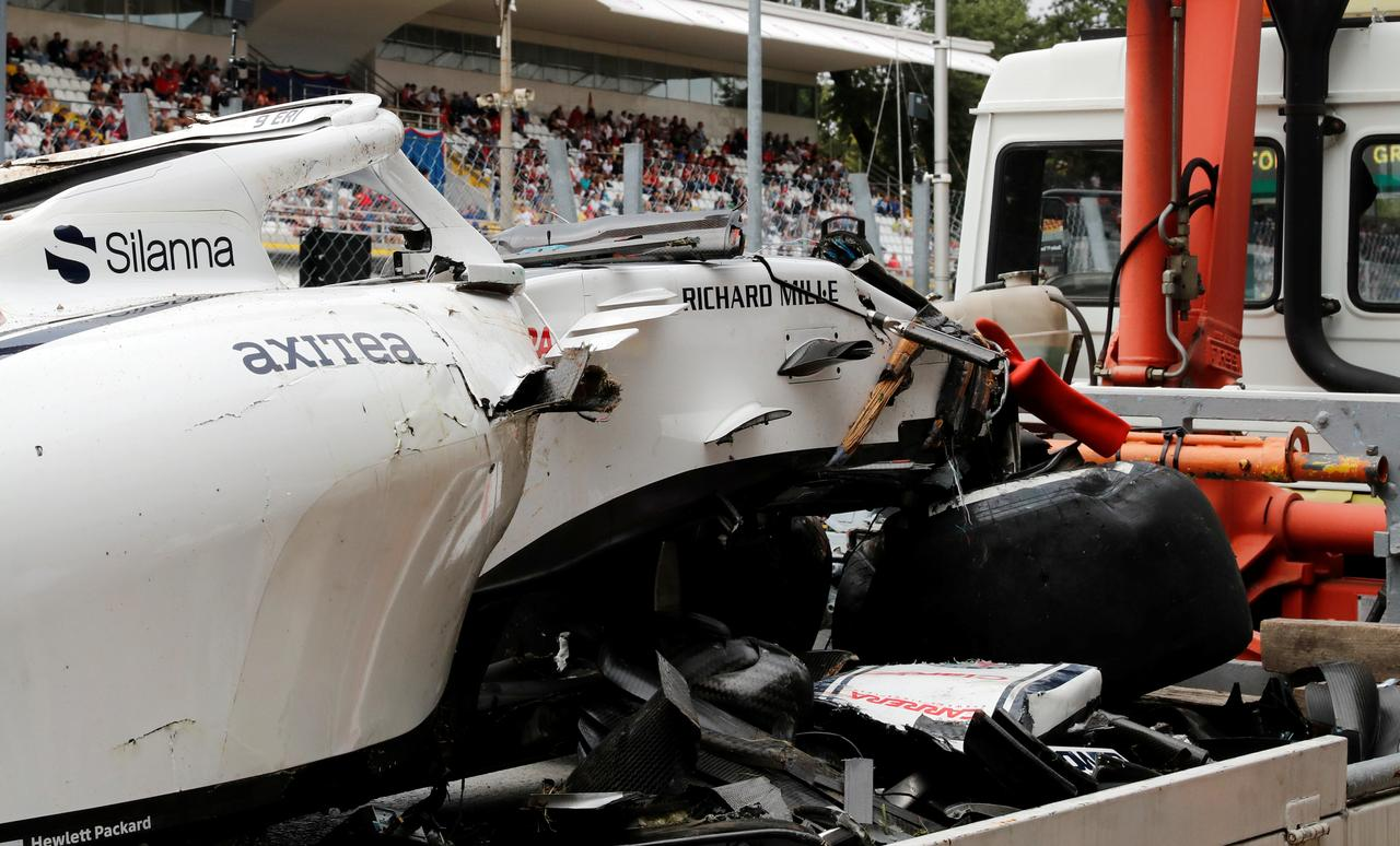 Massive Ericsson crash halts Italian GP practice - Reuters