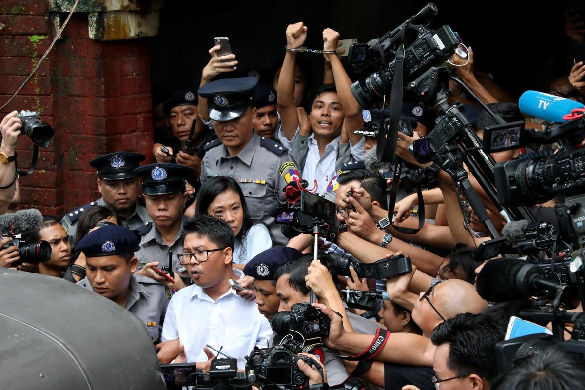 Myanmar court jails Reuters reporters for seven years in landmark secrets case - Reuters