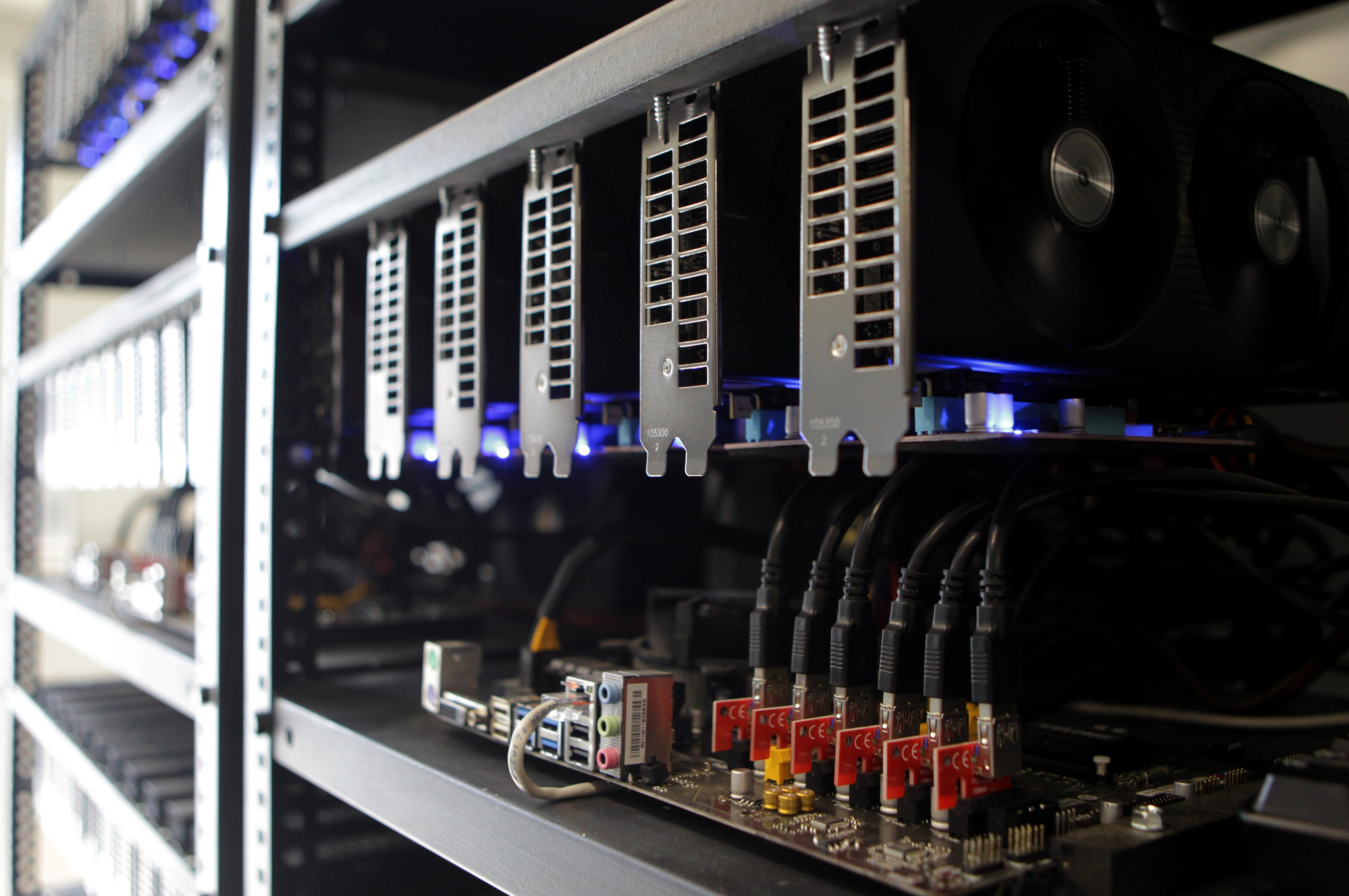 Cryptocurrency mining facilities are seen in Pristina, Kosovo June 12, 2018. Hazir Reka