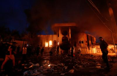 Iraqi protesters storm Iranian consulate