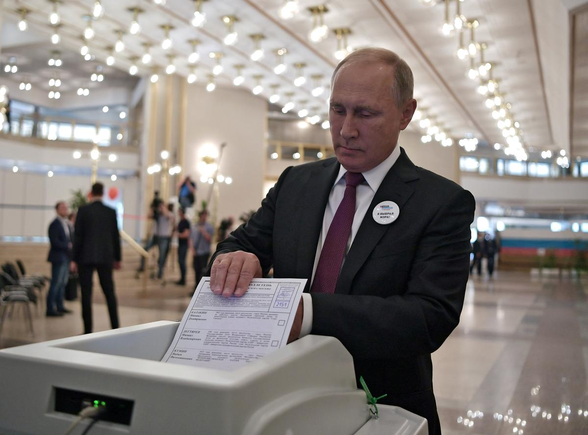 Russia's Putin says Sunday regional elections went well