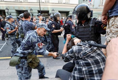 Russians protest pension changes