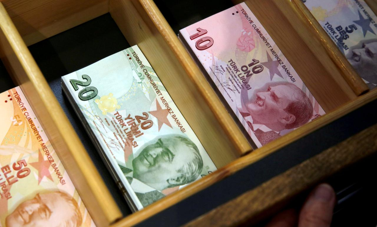 File Photo Turkish Lira Banknotes Are Pictured At A Currency Exchange Office In Istanbul Turkey August 13 2018 Reuters Murad Sezer