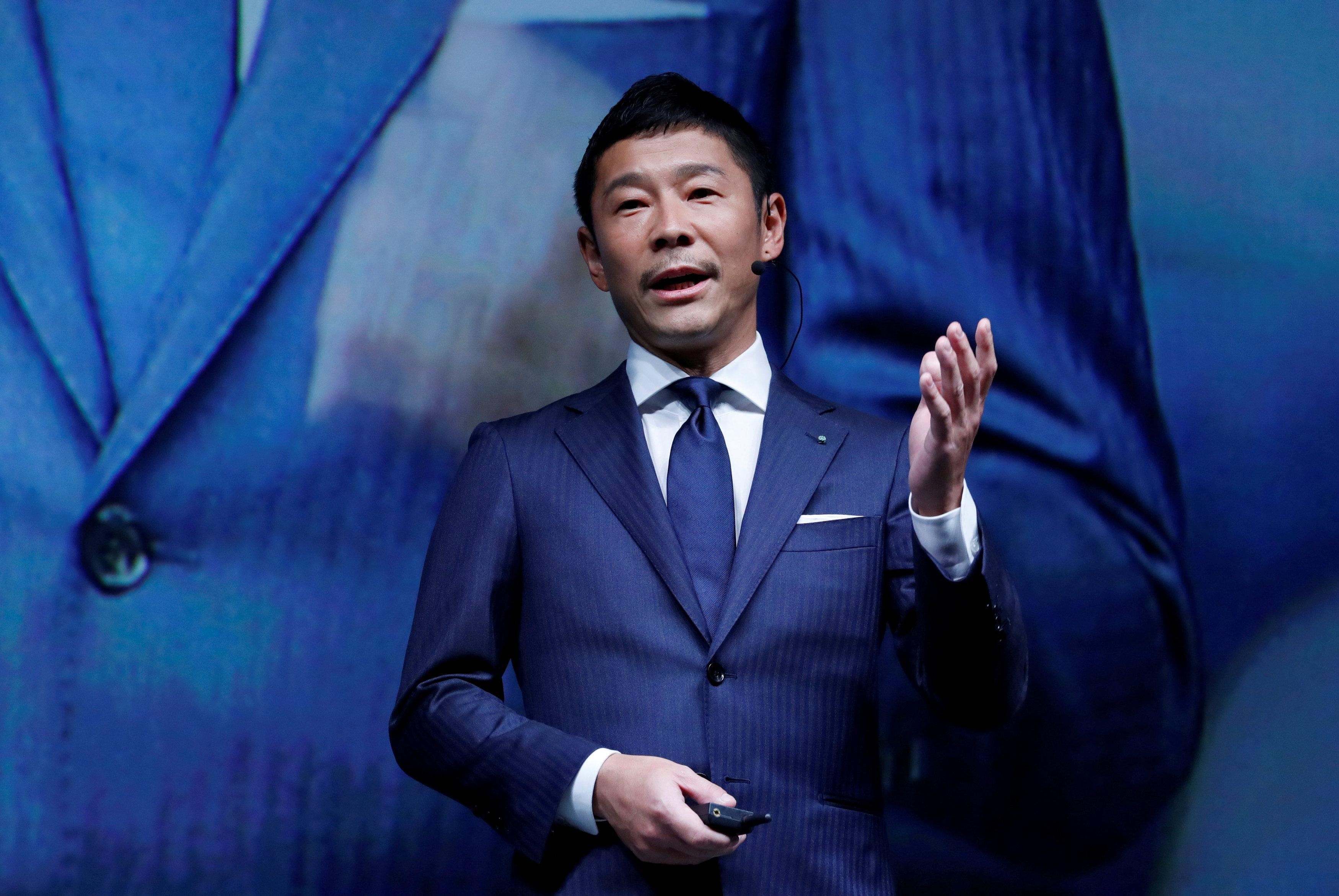 Japan fashion guru Maezawa lands first SpaceX moon flight