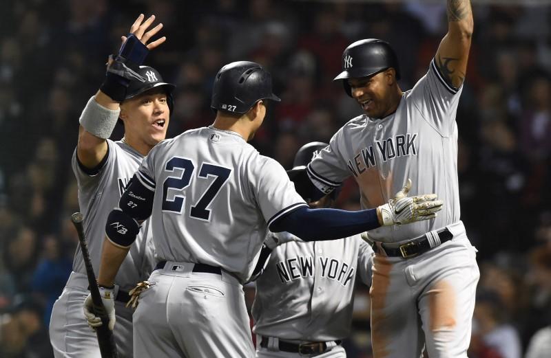 e989bb755d7 MLB roundup  Yankees clinch top AL wild card