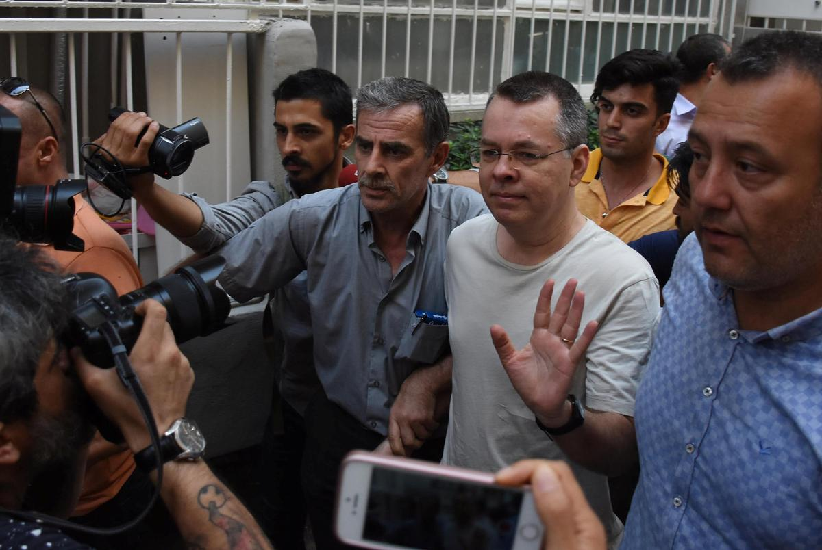 Turkish court says U.S. pastor Brunson can go free