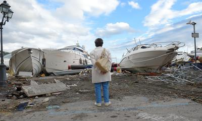 Violent storms batter Italy