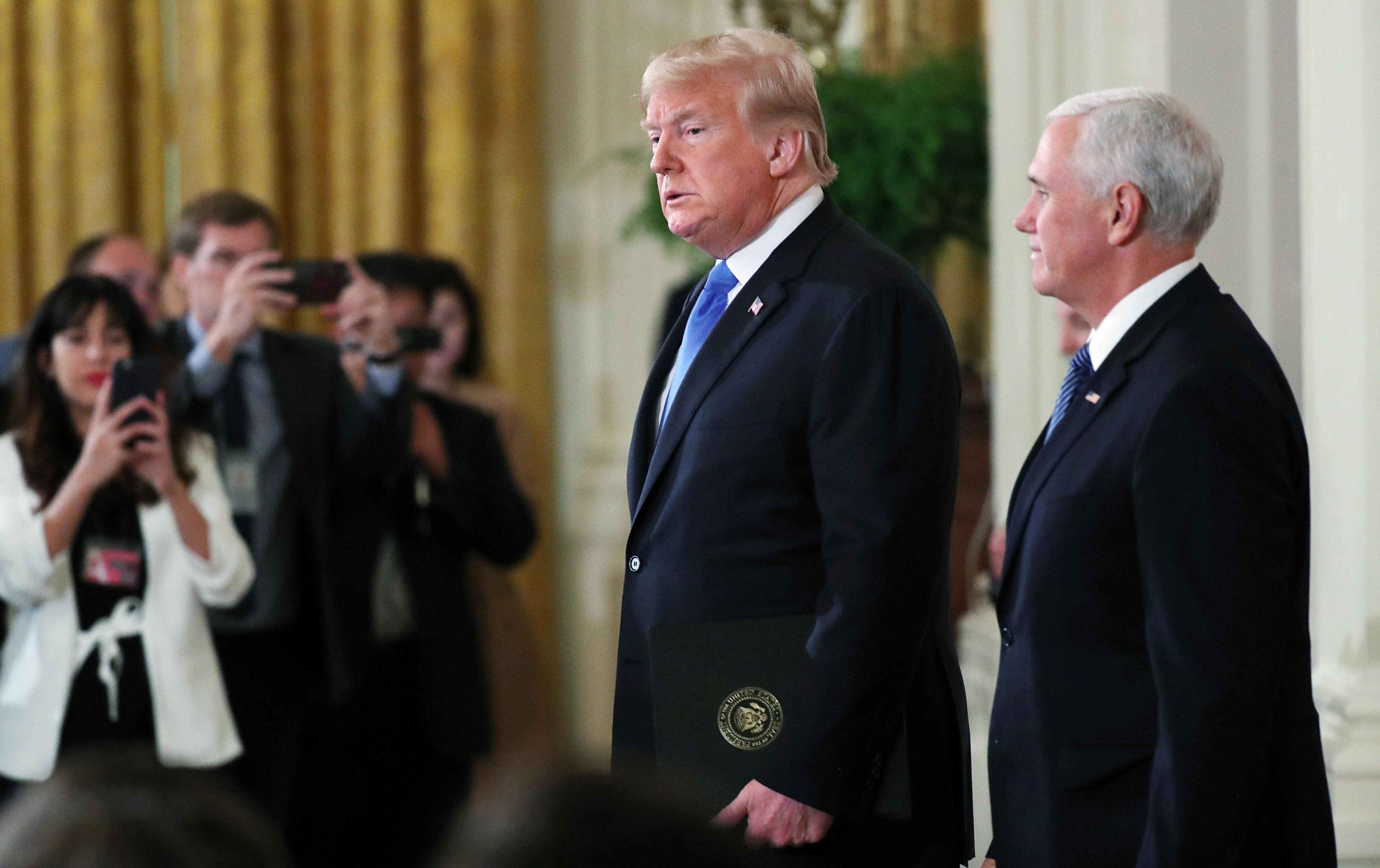 Trump says Pence to be his running mate in 2020