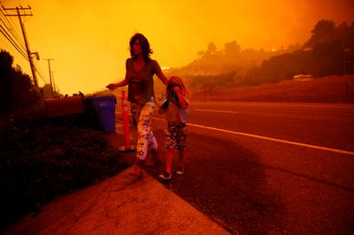 California wildfire leaves town in ruins