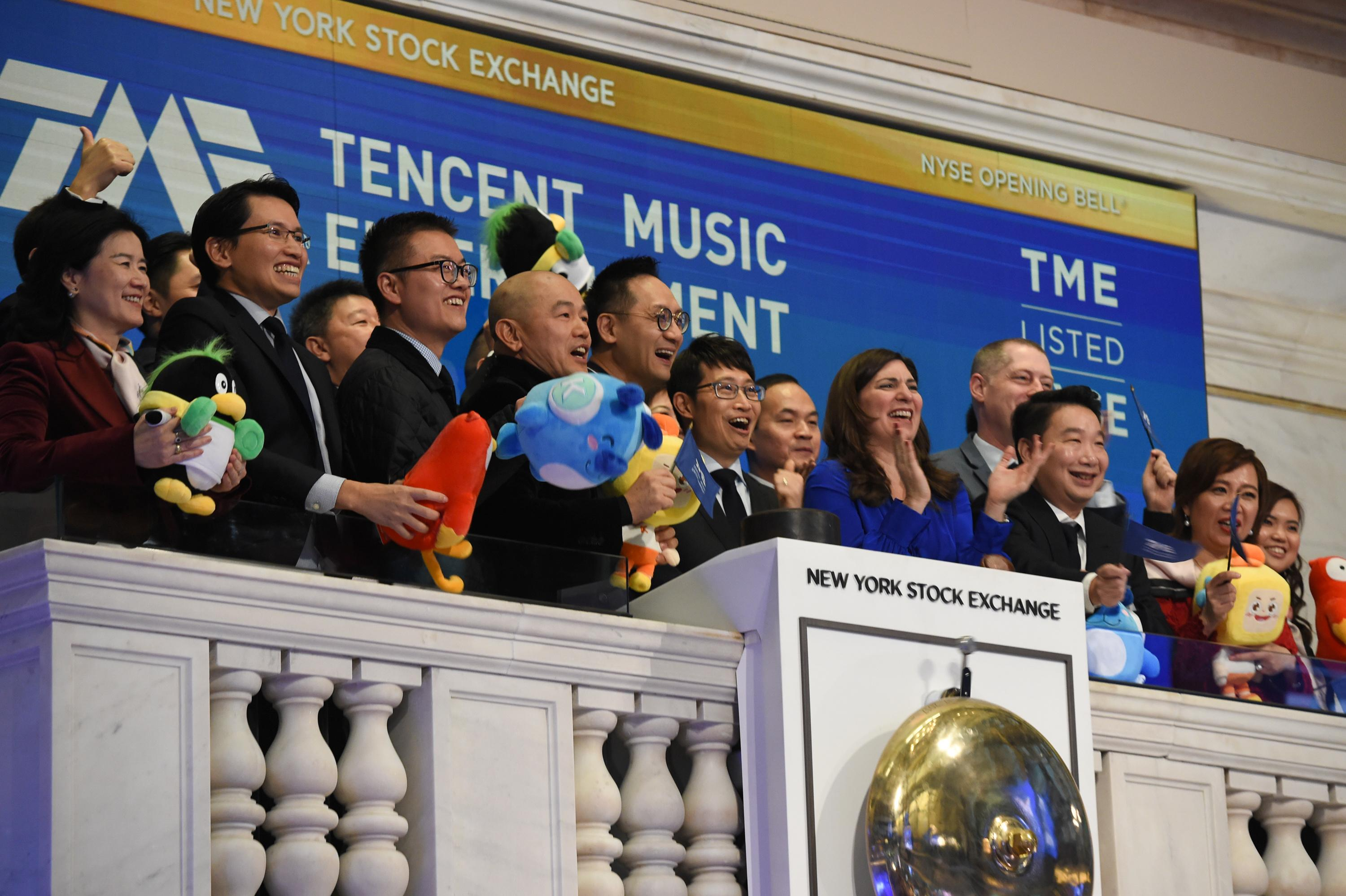 China's Tencent Music raises nearly $1 1 billion in U S  IPO