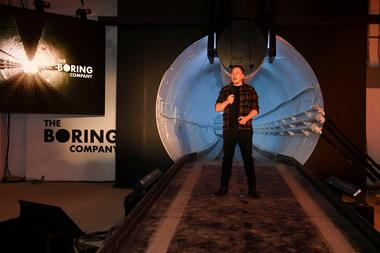The Boring Company unveils first test tunnel of their transporation system...