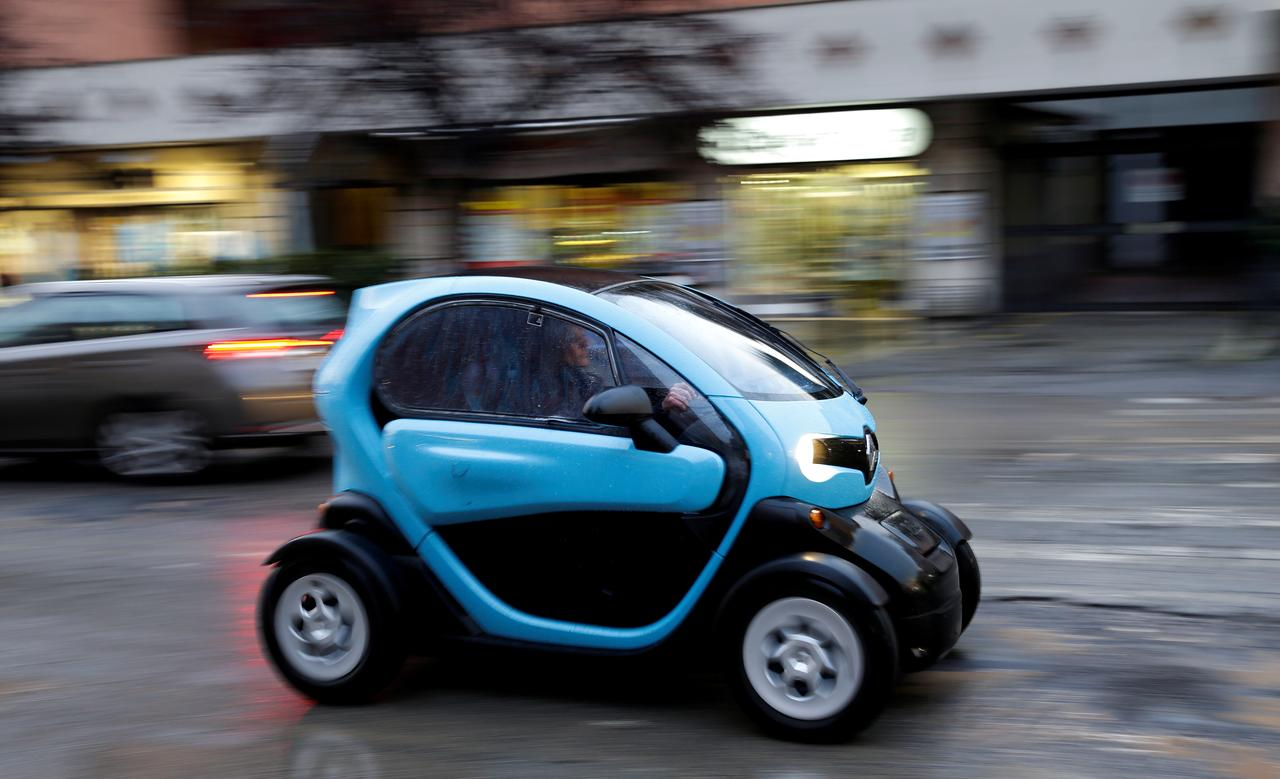 File Photo A Woman Drives Renault Twizy Two Seat Electric Car In Rome Italy March 5 2018 Reuters Max Rossi